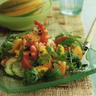 Σαλάτα με γαρίδες και μανιτάρια