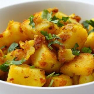 Πατάτες στο φούρνο με κρόκο Κοζάνης