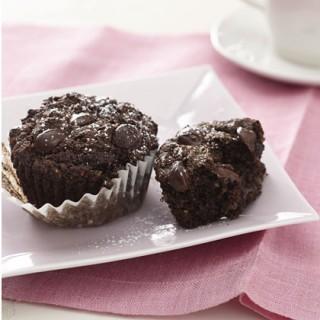 Muffin μήλου και σοκολάτας με λίγες θερμίδες